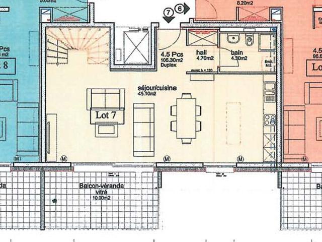 Bien immobilier - Orbe - Duplex 4.5 pièces