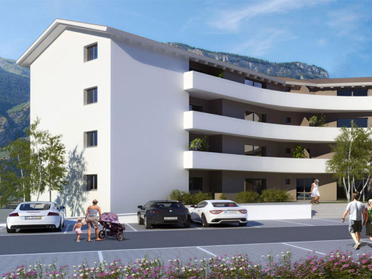 Residence les adonis tissot immobilier saxon projet for Projet construction appartement