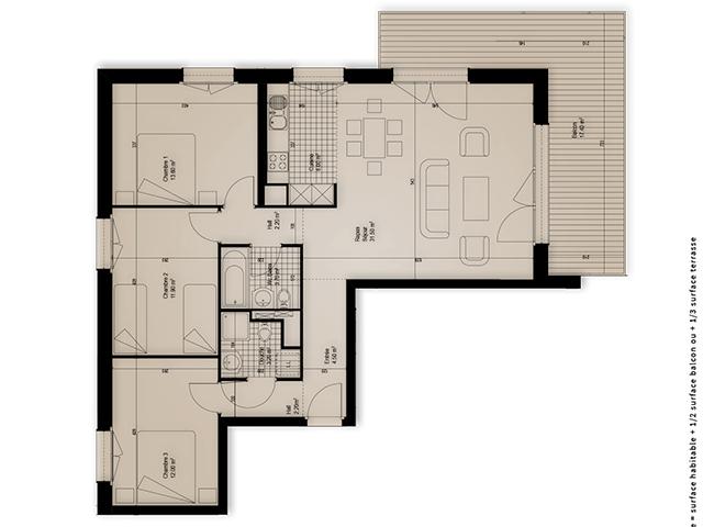 Région AIGLE - Appartement - DOMAINE DU PARC promotion