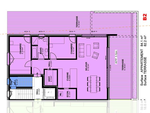 Cresuz - Appartement 3.5 Zimmer - Lux-Homes Berge Alpen Immobilien Prestige Charme Luxus TissoT