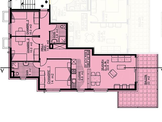 Champlan TissoT Immobilier : Appartement 4.5 pièces