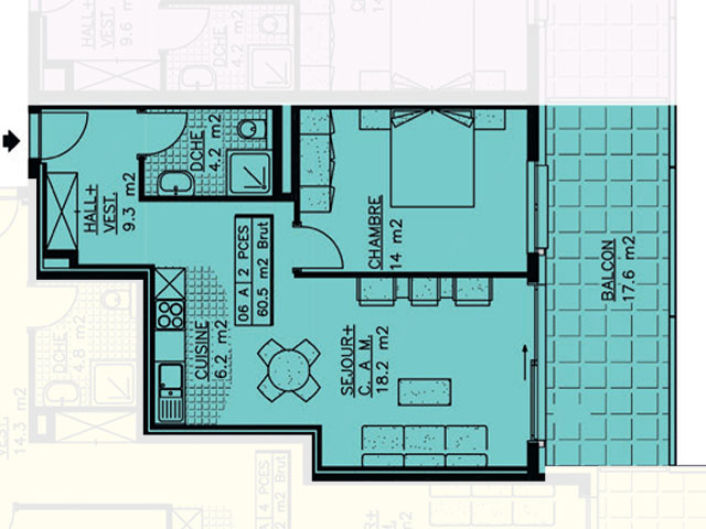 Champlan - Appartement 2.5 pièces