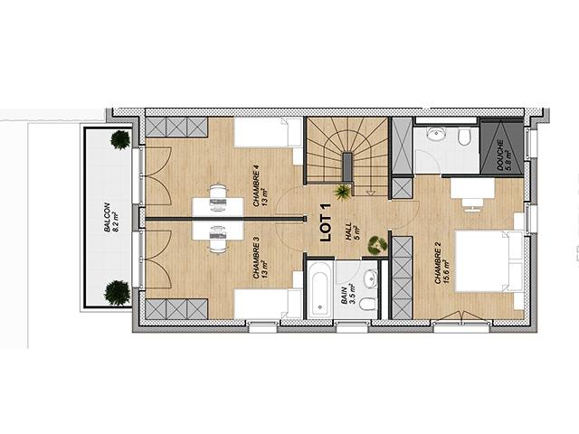 Attalens 1616 FR - Appartamento 5.5 rooms - TissoT Immobiliare