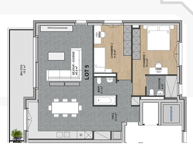 Attalens TissoT Immobiliare : Attico 3.5 rooms