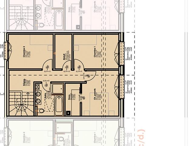 Charmey (Gruyère) 1637 FR - Villa mitoyenne 4.5 pièces - TissoT Immobilier